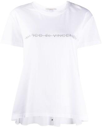 Marco De Vincenzo logo embellished T-shirt