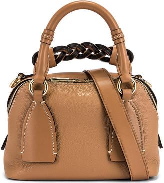 Chloé Small Daria Day Bag in Cement Brown | FWRD