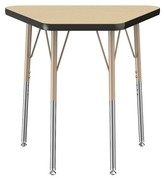 """Factory T-Mold 30"""" x 18"""" Trapezoid Activity Table Direct Partners Glides: Swivel Glide, Leg Type: Standard"""