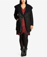 City Chic Trendy Plus Size Faux-Shearling Jacket