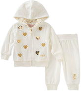 Juicy Couture Cream Heart Zip-Up Hoodie & Joggers - Infant