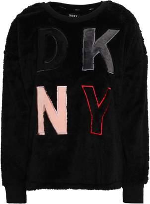 DKNY Appliqued Fleece Pajama Top