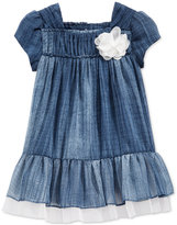 Bonnie Baby Baby Girls' Denim Chiffon Dress