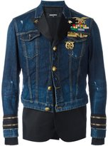 DSQUARED2 mixed material denim jacket