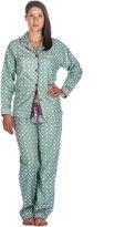 Noble Mount Women's Cotton Flannel Pajama Set - L