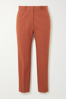 Joseph Bing Cropped Stretch-cotton Tapered Pants - Brick