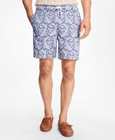 "Brooks Brothers Montauk 6"" Large Paisley Print Swim Trunks"