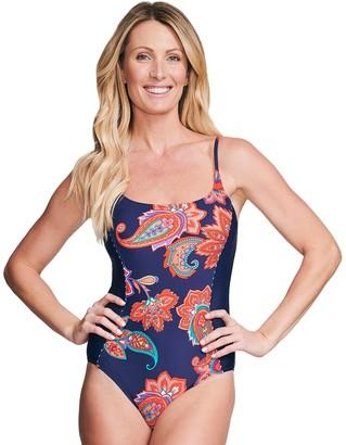 Women's Mazu Swim Waist Minimizer Paisley One-Piece Swimsuit