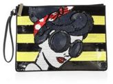 Alice + Olivia Stace Face Large Sequin Zip Pouch