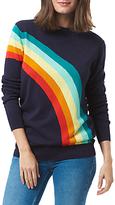 Sugarhill Boutique Rita Vintage Rainbow Sweater, Navy/Multi