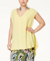 Rachel Roy Curvy Trendy Plus Size Sydney High-Low Blouse