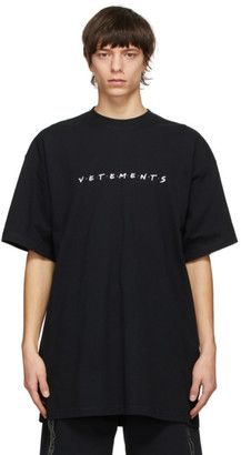 Vetements Black Friendly Logo T-Shirt