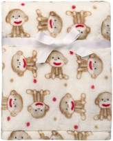 Baby Starters Baby Sock Monkey Ultra Plush Blanket Beige