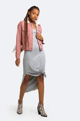 francesca's Rosie Corduroy Sherpa Lined Jacket - Blush
