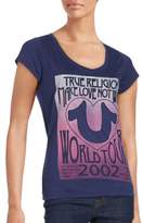 True Religion V-Neck Short Sleeve Tee