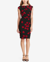 American Living Pleated Floral-Print Sheath Dress