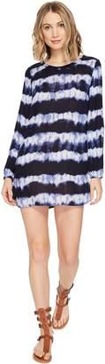 Billabong Junior's Line Up Long Sleeve Mini Shift Dress