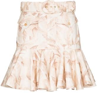 Zimmermann Safari print flared skirt