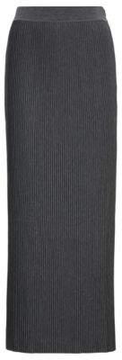 BOSS Jersey maxi skirt with mini plisse pleats