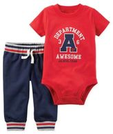 Carter's 2-Piece Department Awesome Bodysuit and Pant Set in Red