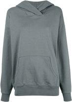 Closed kangaroo pocket hoody - women - Cotton - M
