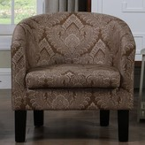 Bungalow Rose Livermore Barrel Chair Upholstery: Almond Brown