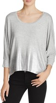 Splendid Metallic Ombre Dolman Top