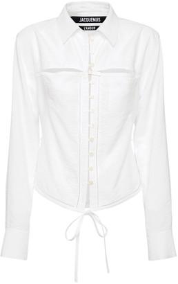 Jacquemus La Chemise Nappe Viscose Wrap Shirt