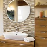 Smart Tiles 9.65 in. W x 11.55 in. H Milano Sasso Peel and Stick Decorative Wall Tile Mosaic in Beige (Box of 12)