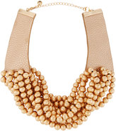 Lydell NYC Multi-Strand Beaded Torsade Choker Necklace, Gold