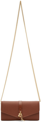 Chloé Brown Aby Chain Wallet Bag