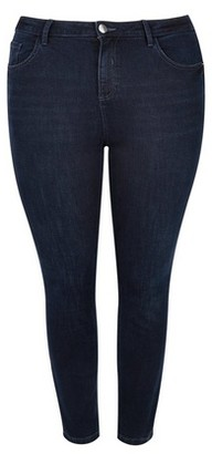Dorothy Perkins Womens Dp Curve Blue 'Darcy' Skinny Ankle Grazer Jeans, Blue