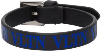 Valentino Black and Blue Garavani VLTN Bracelet