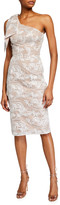 Dress the Population Thalia One-Shoulder Lace Overlay Sheath Dress