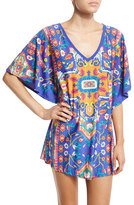 Trina Turk Tapestry Printed Tunic Coverup, Multi