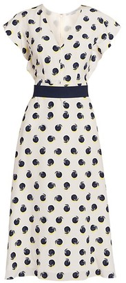 Stella McCartney Reese Printed Silk Midi Dress