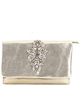 Badgley Mischka Abby Metallic Brooch Clutch