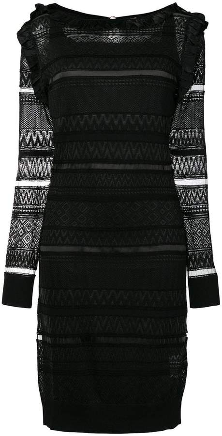 Class Roberto Cavalli sheer panelled dress