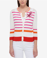 Tommy Hilfiger Striped Embellished Cardigan, Only at Macy's