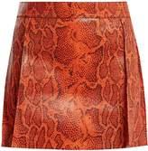 Chloé Python-print leather mini skirt