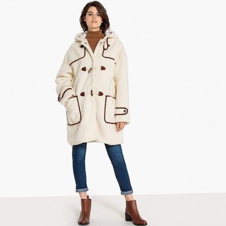 La Redoute Collections Teddy Faux Fur Hooded Duffle Coat
