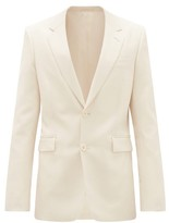 The Row Noah Single-breasted Wool-blend Twill Suit Jacket - Mens - Cream