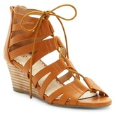 Restricted Downey Lace-Up Wedge Sandal