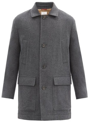 Brunello Cucinelli Single-breasted Cashmere Coat - Dark Grey