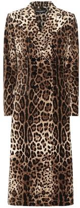 Dolce & Gabbana Leopard-print velvet coat