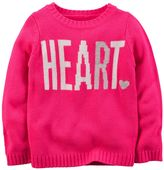 Carter's Toddler Girl Knit-In Sweater