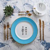 Melody Rose Models Colour Border Bone China Dinner Plate