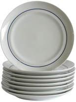 One Kings Lane Vintage Blue & White Dessert Plates - Set of 8
