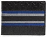 Salvatore Ferragamo Men's Deco Gancini Leather Bifold Wallet - Black