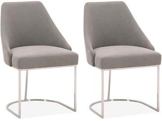 One Kings Lane Set of 2 Lola Side Chairs - Slate